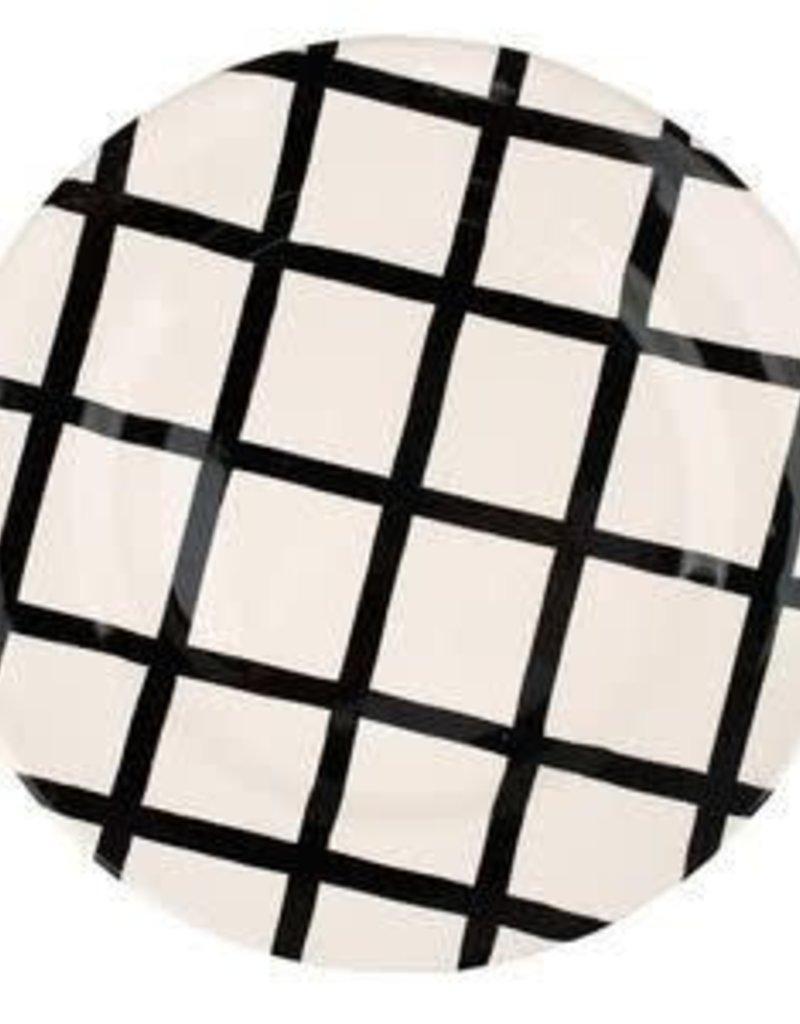 Black & White Dinner Plates