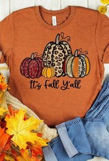 It's Fall Y'all Leopard And Red Pumpkins