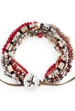 Beaded Prayer Bracelet - Garnet
