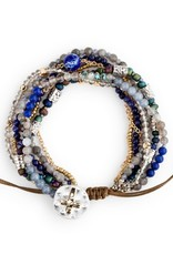 Beaded Prayer Bracelet - Indigo