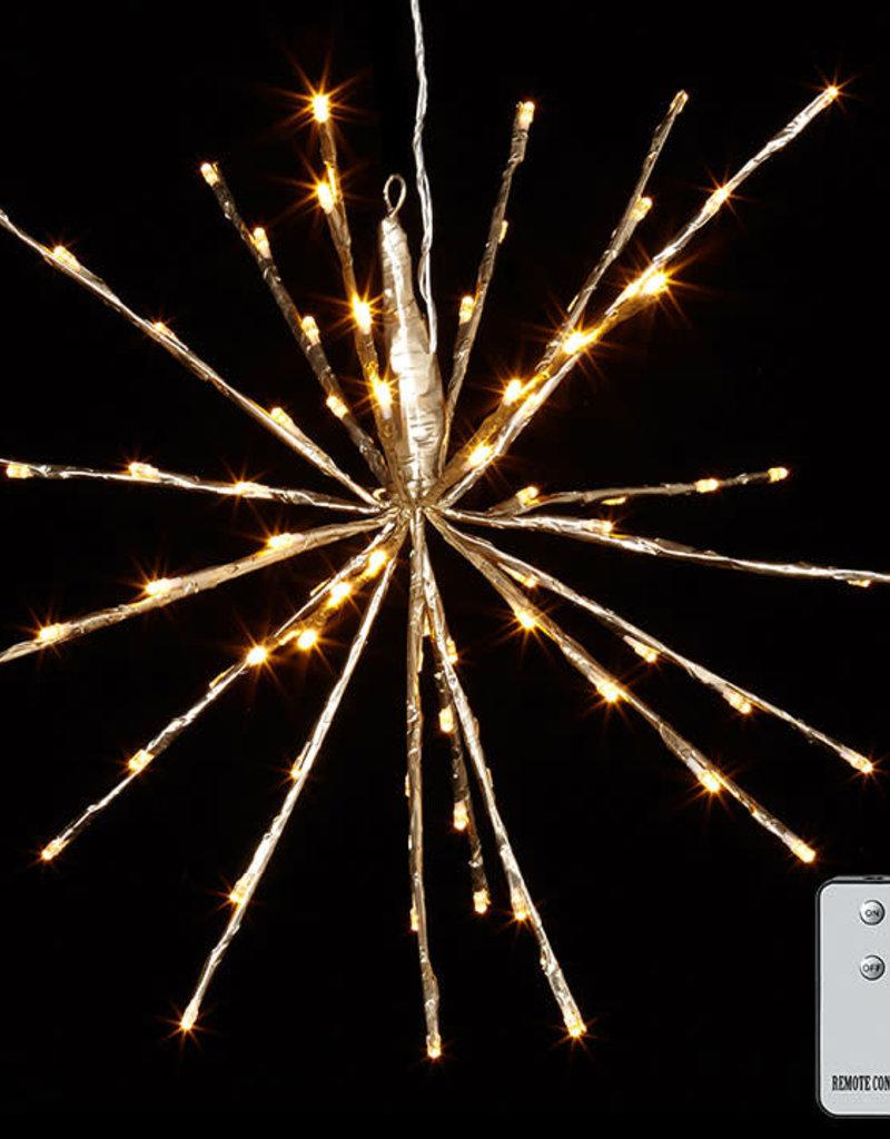 "18.5"" Starburst w/Warm Lights and Remote (Champagne)"