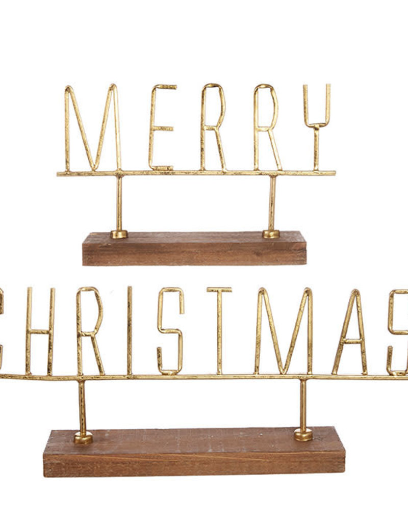 Gold Merry Christmas Word Art SET