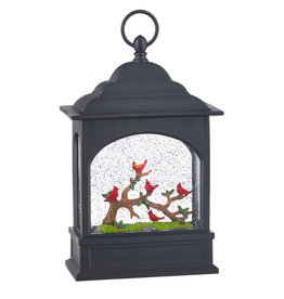 "11"" Cardinal Lighted Water Lantern"