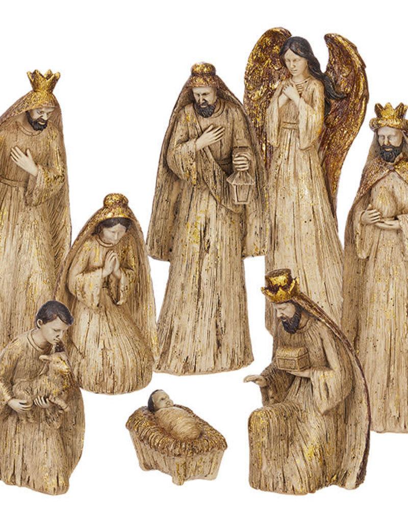 "7.5"" Gold Nativity (8 pieces)"