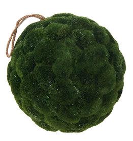 "8"" Iced Moss Ball Ornament"