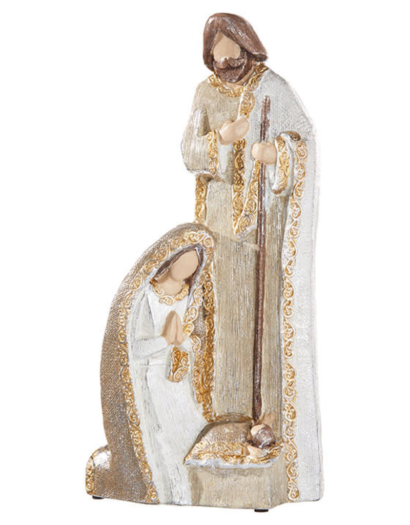 "21"" Holy Family - White & Gold"