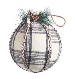 """5.75"""" Plaid Ball Ornament"""
