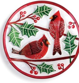 """Cardnials on Holly Plate 11"""""""