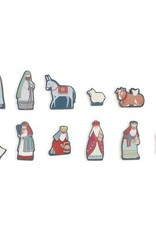 Children's Nativity (12 numbered wooden pieces)