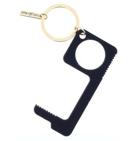 Black Touchless Key Keychain