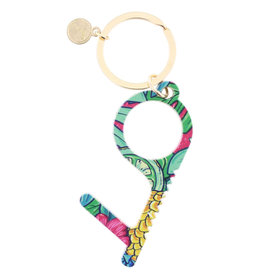 Pineapple Print Touchless Key Keychain