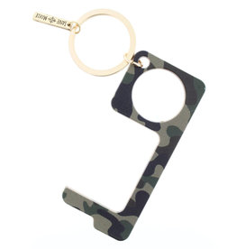 Camo Touchless Key Keychain