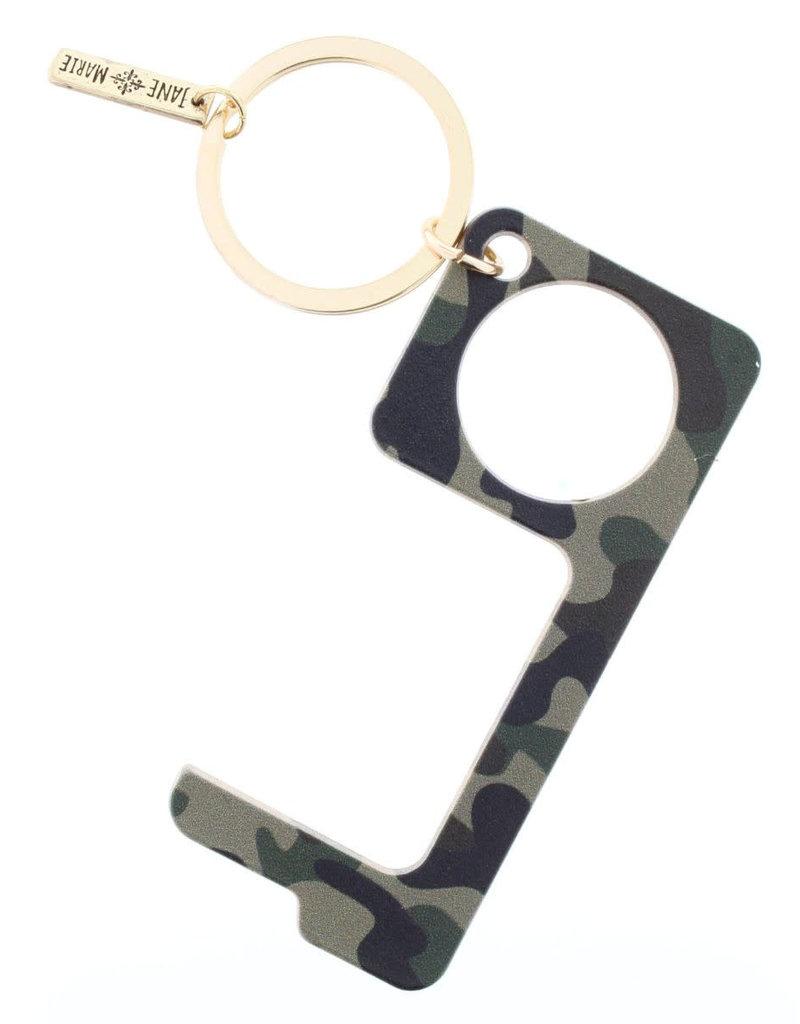 Camo Touchless Key Keychain