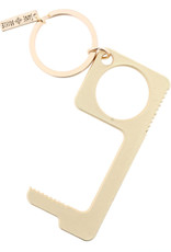 Matte Gold Touchless Key Keychain