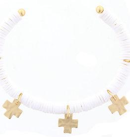 Gold Cuff  w/ Gold Cross Accents