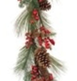 Pine & Berry Garland 5'L