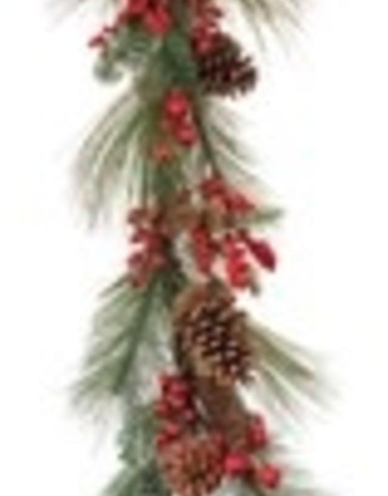 Pine & Berry Garland 5'L