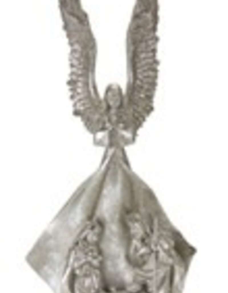"Angel w/Holy Family 19""H Resiin"