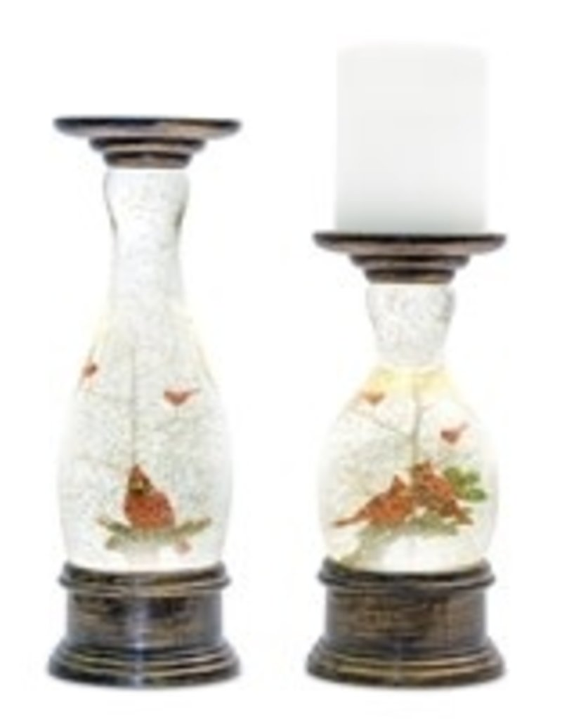Snow GLobe Candle Holder (Set of 2)