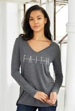 Faith Long Sleeve Ladies T-Shirt