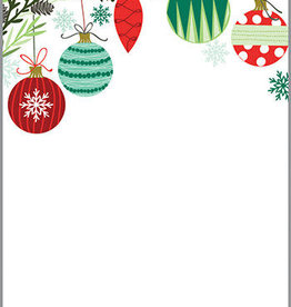 CMAS MEMO PAD- HOLIDAY ORNAMENTS