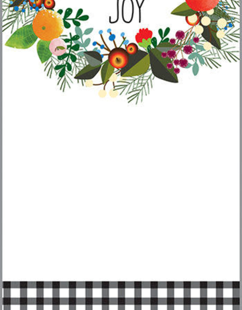CMAS MEMO PAD- SEASON'S WREATH