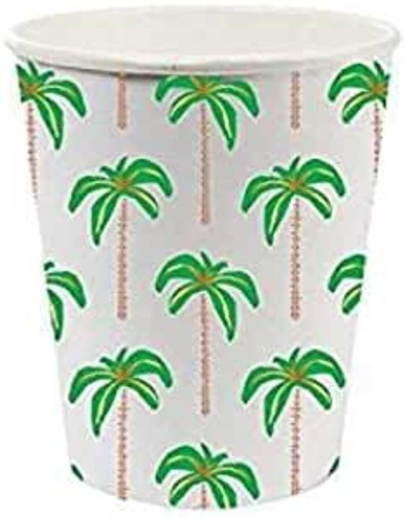 Palm Tree Paper Cup Set(8) - 8 oz