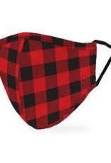 Face Mask- Plaid Red/Black