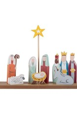 OH Holy Night Nativity w/Stand