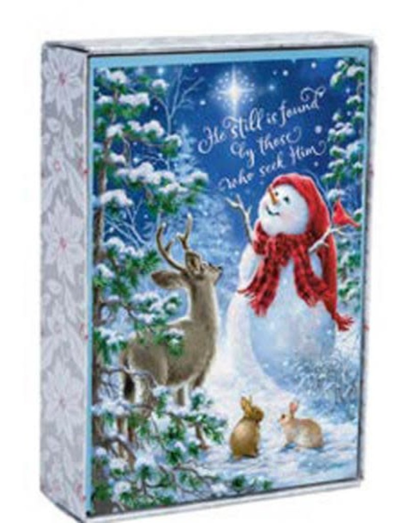 CMAS Boxed:  Snowman Gazer & Friends  J3372