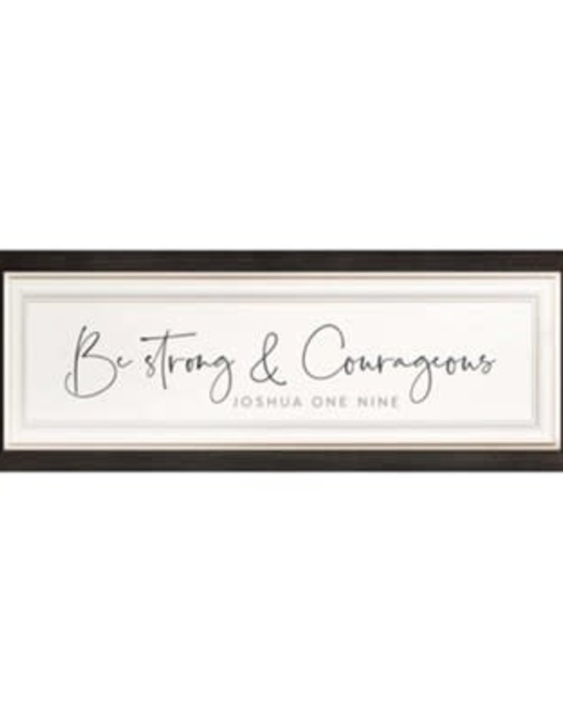 Be Strong & Courageous 21x8 Wood Artwork