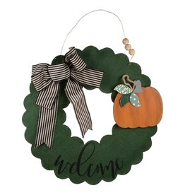Welcome Wreath Burlee with Seasonal Pieces