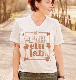 Fall-elujah T- Shirt on Cream