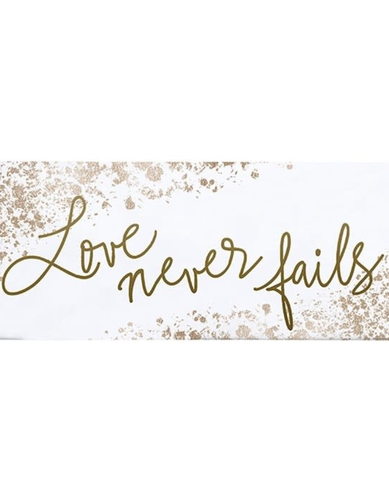 Love Never Fails Metal Plaque