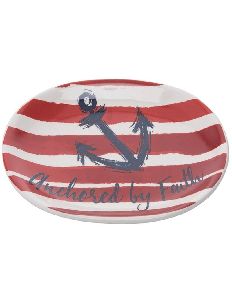 Red Stripe Achored by Faith Dish