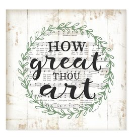 How Great Thou Art Wall Decor - 12x12