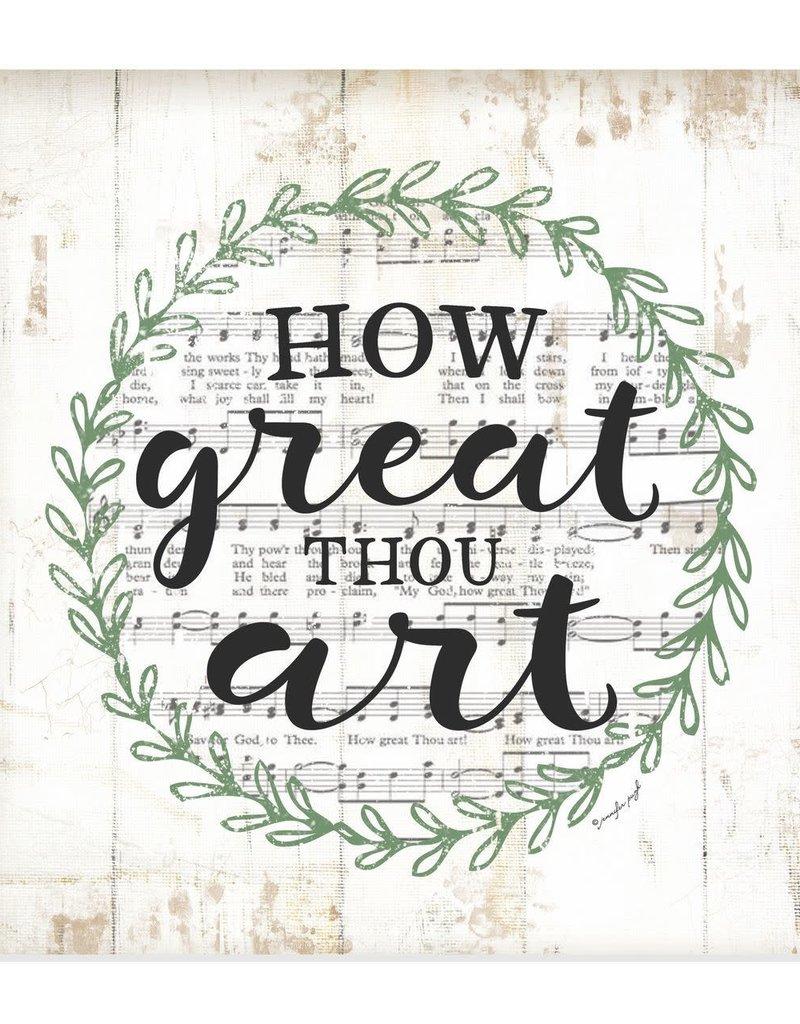 How Great Thou Art Wall Decor - 12x12