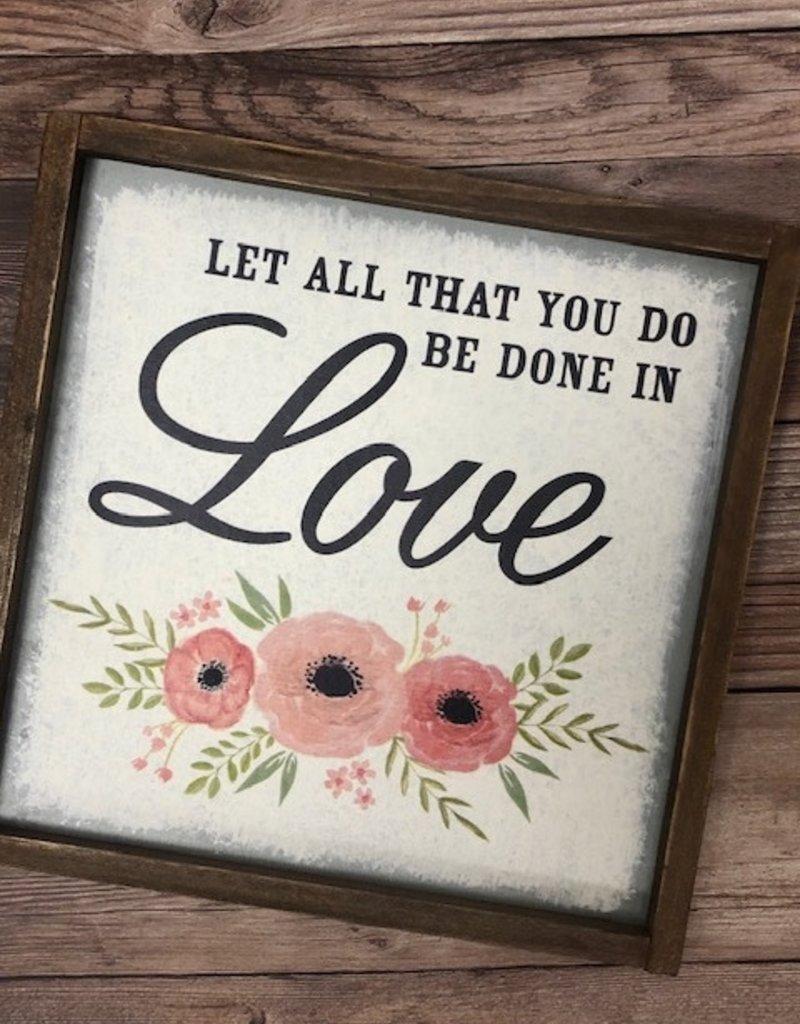 WALL Art (tin) LOVE