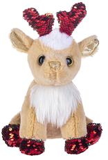 Fun Flip Sequin Reindeer- Red Sparkle