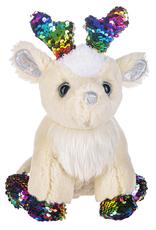Fun Flip Sequin Reindeer- Multi Sparkle