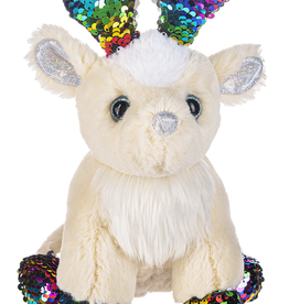 Fun Flip Sequin Reindeer- Multi Sparkle