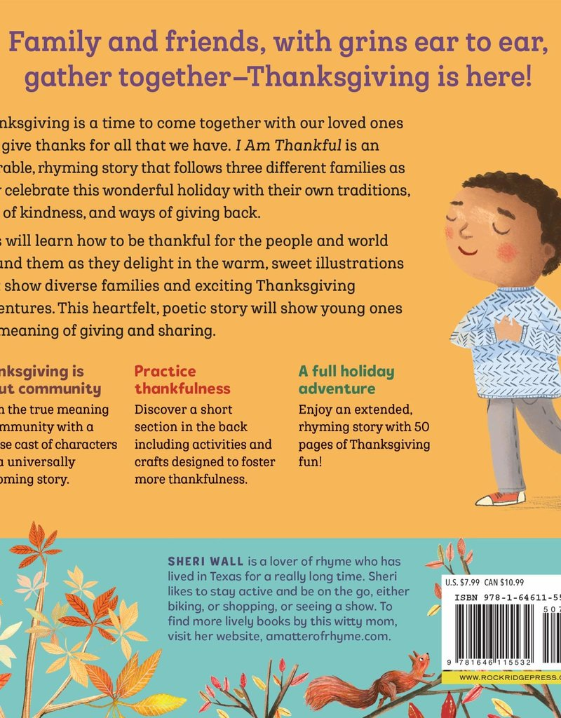 I Am Thankful: A Thanksgiving Book for Kids