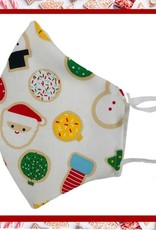 Face Mask -Christmas Cookies White