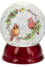 Cardinal Snow Globe Red Bottom