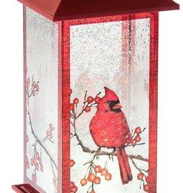 Lighted Cardinal Lantern Acrylic