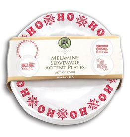 Ho Ho Ho Set of 4 Accent Plates Melamine