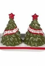 Cmas Tree Salt & Pepper Shakers set