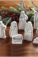 10 pc Color Me Nativity