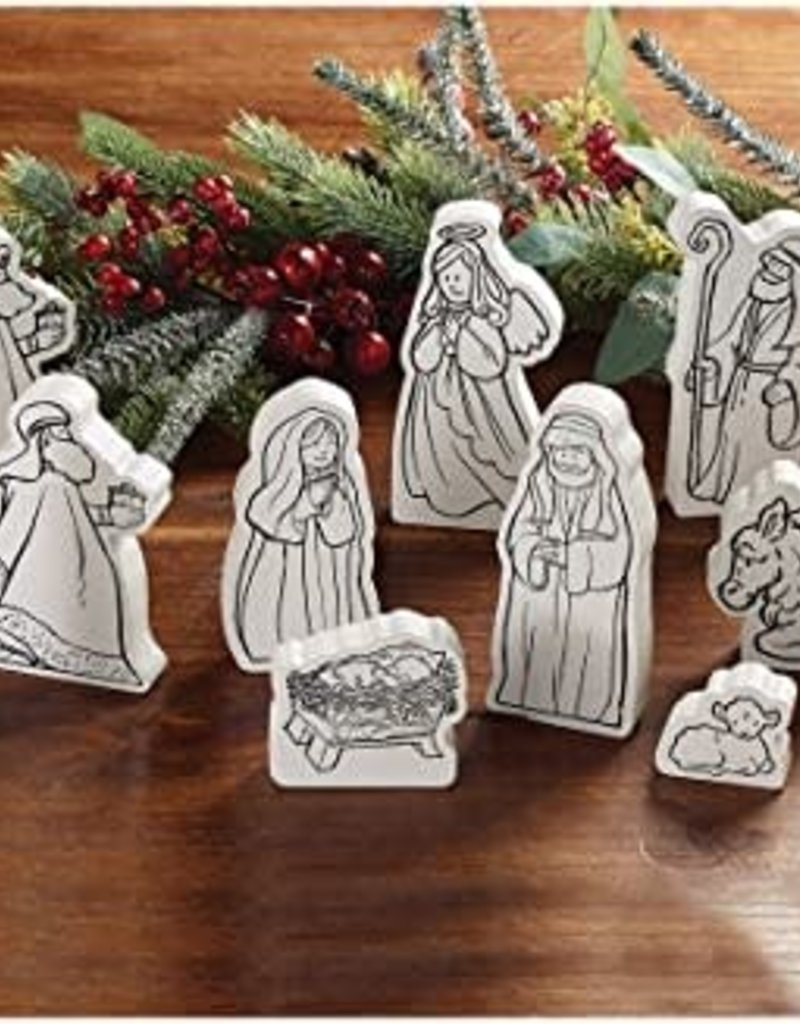 10 pc Color Me Nativity