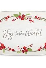 Joy w/ Pine Cones Platter